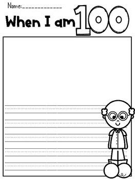 When I am 100 {Writing Freebie}