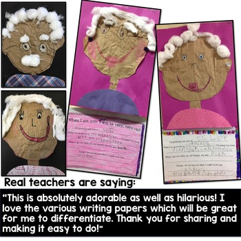100th Day of School Activities : When I am 100 Years Old Project & Writing