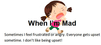 When I am Mad  Social Story