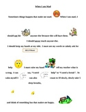 When I am Mad.  Social Story with Pictures