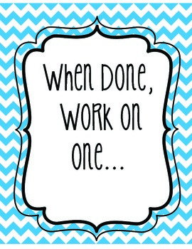 When I am done....