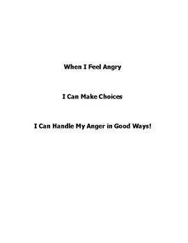 When I feel ANGRY social story