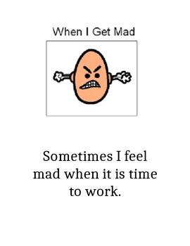 When I feel Mad Social Story