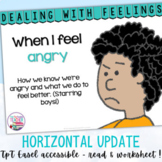 Identifying, managing feelings and emotions: angry boys