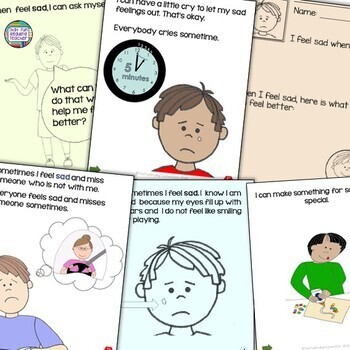 Feelings and Emotions   When I feel sad - starring boys   Distance Learning