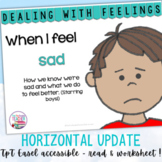 Identifying, managing feelings and emotions: sad boys