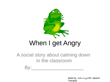 When I get Angry: A Social Story