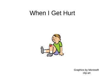 When I get hurt Social Story
