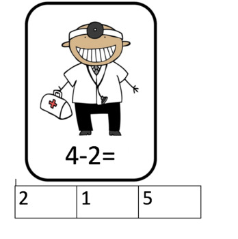 When I grow Up - Subtraction Cards (career cards)