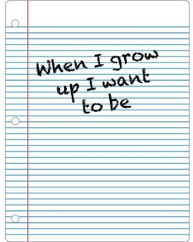 When I grow up I Want to Be.....Photo Prop