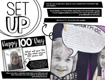 When I'm 100 Years Old – 100th Day Writing Craftivity