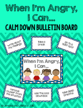 When I'm Angry, I Can...Calm Down Bulletin Board Poster Set