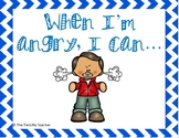 """When I'm Angry I Can..."" Calm Down Strategies Posters"