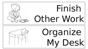 When I'm Done Choice Menu (Black and White)