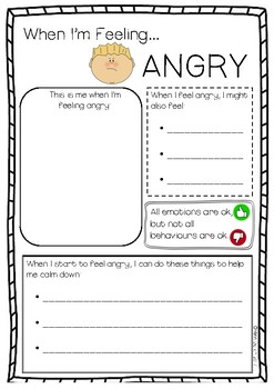 When I'm Feeling Angry... activity