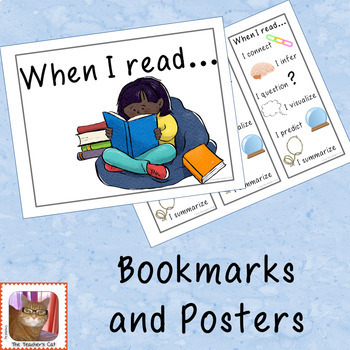 When I read - Bookmarks and Posters