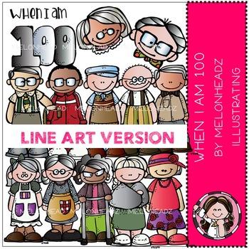 When I'm 100 by Melonheadz LINE ART