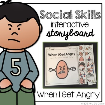 When I'm Angry - Social Story Interactive Storyboard { for Autism }
