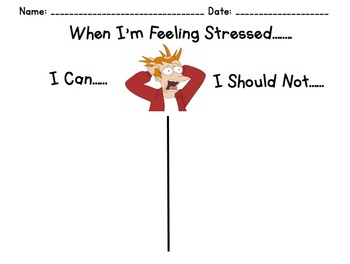 When I'm Stressed Out Printable Worksheet with Cut Outs