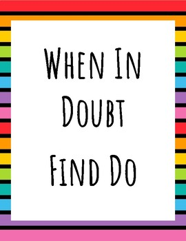 When In Doubt, Find DO! Poster