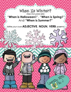 """""""When is Winter?"""" and other grammar poems for Halloween, Spring, & Summer!"""