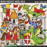 """Knights and Dragons Clip Art: """"When Knights Were Bold"""""""