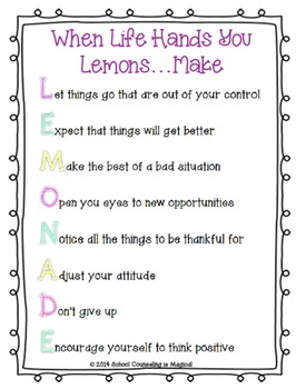 When Life Hands You Lemons: Coping with Life's Challenges