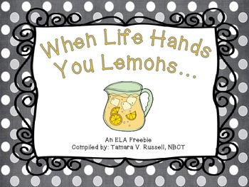 When Life Hands You Lemons {Language Support & Writing for Firsties}