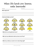When Life Hands You Lemons- Think Sheet Using Restorative Practices