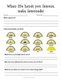 When Life Hands You Lemons- Think Sheet Using Restorative