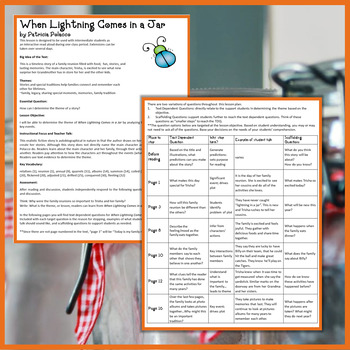 When Lightning Comes in a Jar Interactive Read Aloud Lesson Plan and Extensions