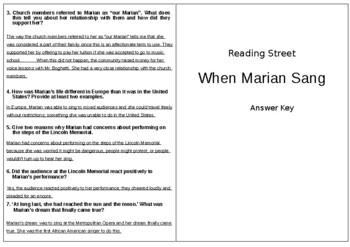 When Marian Sang - 6th Grade Reading Street
