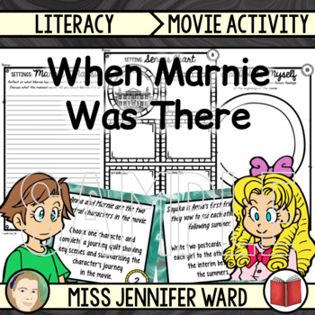 When Marnie Was There: Activity Cards / Worksheets