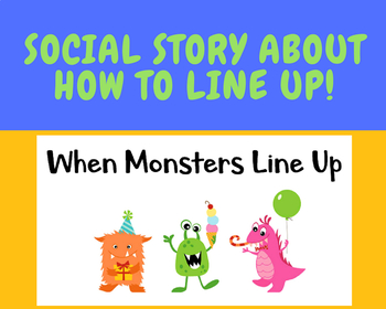 When Monsters Line Up social story
