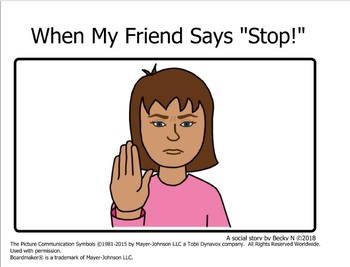 When My Friend Says Stop Social Story