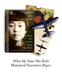 When My Name Was Keoko Historic Narratives Final Paper