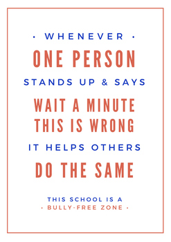 When One Person Stands Up (anti-bullying)