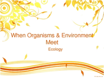 When Organisms & the Environment