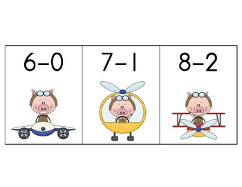When Pigs Fly High Subtraction Facts 6 to 10