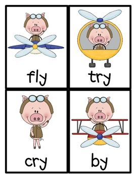 When Pigs Fly! Vowel sounds of y Literacy Centers