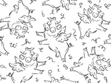 When Pigs Fly coloring page, writing prompt, clip art