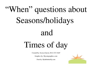 """When"" Questions about seasons/times of day"