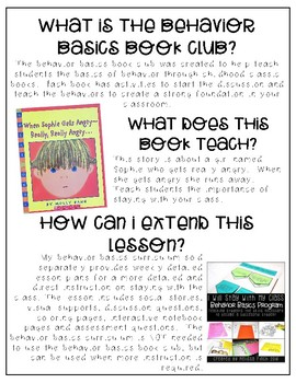 When Sophie Get's Angry- Behavior Basics Book Club
