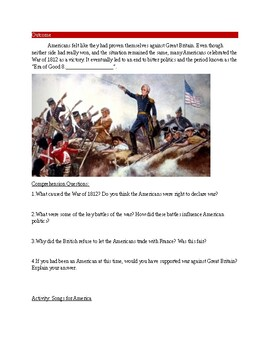 When They Burned the White House! : The War of 1812