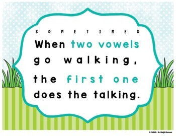 When Two Vowels Go Walking... {Phonics Posters}
