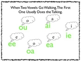 When Two Vowels Go Walking Poster