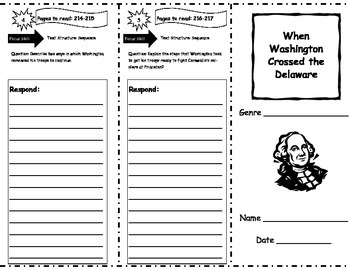 When Washington Crossed the Delaware Storytown Comprehension Trifold