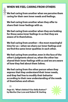 When We Feel Caring From Others