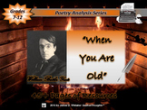 When You Are Old by William Butler Yeats Poem Analysis