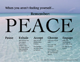 When You Aren't Feeling Yourself...PEACE Poster - Middle H